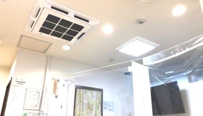 天井の空気清浄機