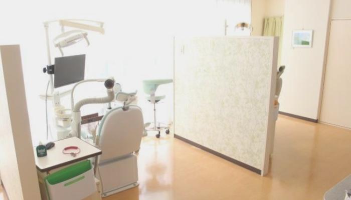 かとうデンタルケアクリニックの診察台(ユニット)